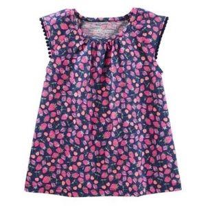 Girl OshKosh B'gosh Flutter Sleeve Floral Top
